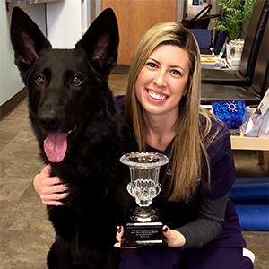 Dr. Erin O'Connor and Moose IPO National Champion
